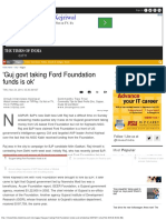 'Guj Govt Taking Ford Foundation Funds is Ok' - Times of India