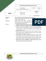 1. SPO Identifikasi Pasien Rawat Jalan