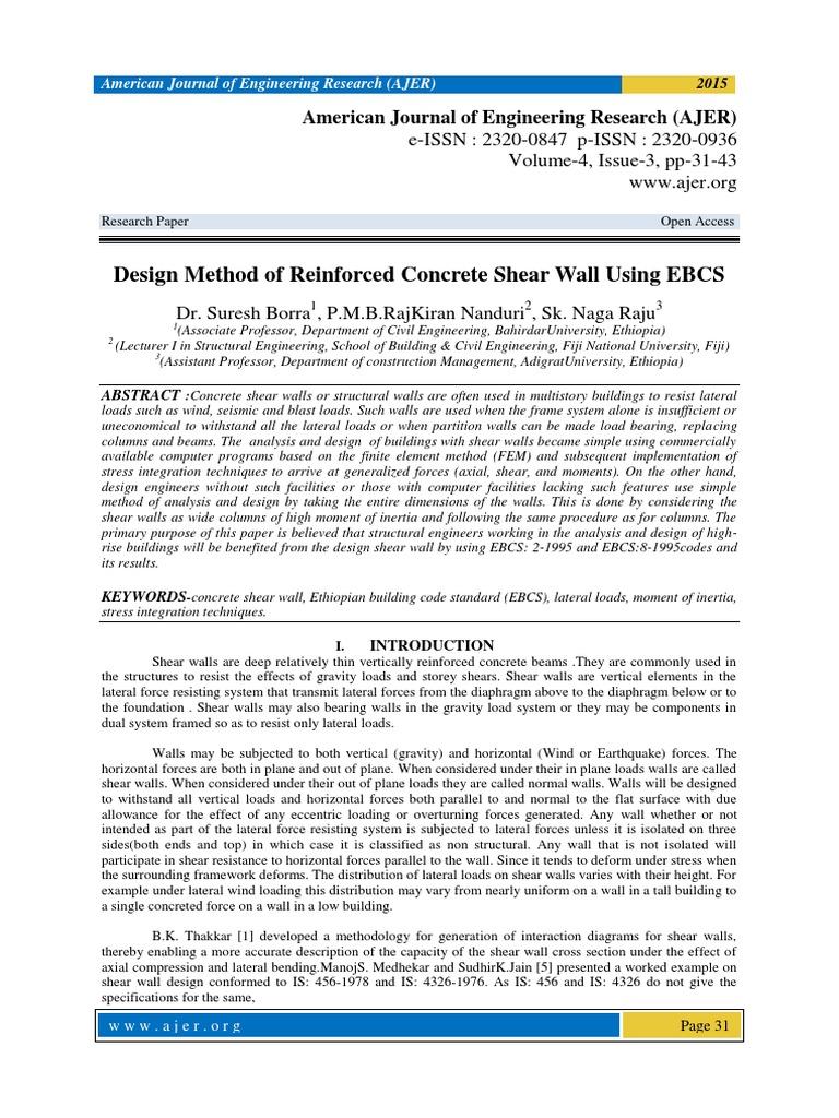 Shear Wall Design pdf | Strength Of Materials | Wall