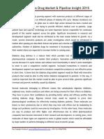Global Diabetes Drug Market & Pipeline Insight 2015