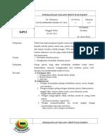 2. SPO Pemasangan Gelang Identifikasi Pasien