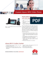Huawei ESpace 8850 Video Phone Datasheet