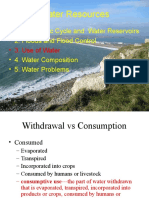 Use of Water and Water Composition