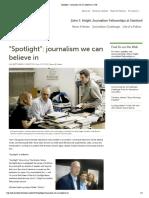 """""""Spotlight""""_ Journalism We Can Believe in _ JSK"""