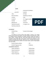 contoh Status Neurologi bidang saraf RSU HAJI PROV. Sumatera Utara