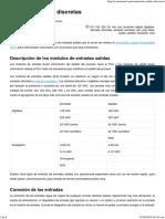 Entradas Salidas Discretas - Control Real Español
