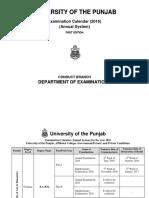 Examination Calendar 2016 Annual System