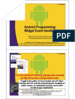 Android Widget Event Handling