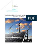 Conference on Social Science Research in Energy - Final Agenda