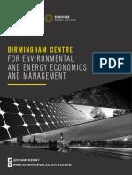 Birmingham Centre for Environmental and Energy Economics and Management