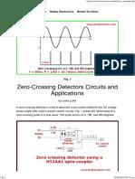 Zero-Crossing Detectors Circuits and Applications