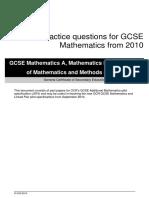 83374 Practice Questions for Gcse Mathematics