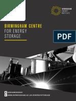 Birmingham Centre for Energy Storage Brochure