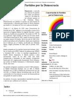 Concertación de Partidos Por La Democracia - Wikipedia, La Enciclopedia Libre