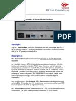 FE1 Fiber Modem Datasheet