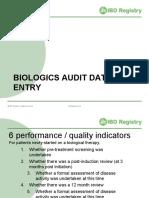 Biologics Audit Data Entry