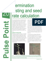 Calculation of Seed Rate and Germination %
