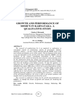 GROWTH AND PERFORMANCE OF MSME'S IN KARNATAKA- A QUALITATIVE STUDY