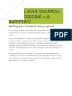 Writing Your Business Case Proposal