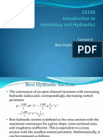 Lecture 6-Best Hydraulic Sections