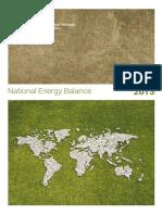 National Energy Balance 2013