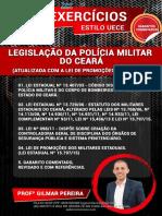Apostila 500 Exercícios - Legislação Da Polícia Militar Do Ceará 2016