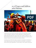 Significance of Yagya and Saffron Flag in Hindu Dharma