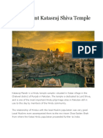 The Ancient Katasraj Shiva Temple