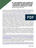 Ley 2-2007 Estatuto Jurídico Del Personal Estatutario SACYL