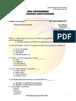Perl Pre Training Assessment Perl Programming