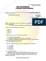 Perl Post Training Assessment PERL PROGRAMMING