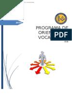 Programa Orientación Vocacional 7-8-1