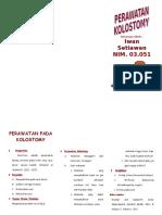 Leaflet Perawatan Kolostomy