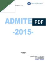 Ghidul Admiterii Cluj 2015