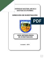 GUIA METODOLOGICA DE INVESTIGACION 2012.doc
