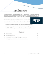 Rules of Arithmetic