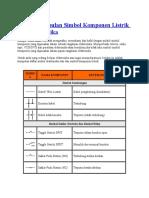 Kumpulan Simbol Komponen Listrik Dan Elektronika