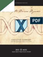 2015 MHI Sales Best Practices Study Executive Summary