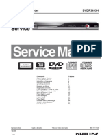 Philips DVDR3455H DVD Service Manual