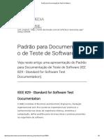 Padrão Para Documentação de Teste de Software