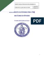 Documento AQ Di Ateneo Per CdS