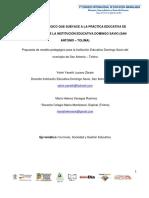 Modelo Pedagógico que subyace a la Práctica Educativa de los Docentes de la Institución Educativa Domingo Savio (San Antonio – Tolima)