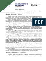 Estudo - Instrumentistas e Grupos de Louvor