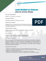 Fiche de Poste Etudiant en Sciences - AFNEUS