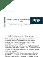 Lab6 Debug Assembly Language Lab