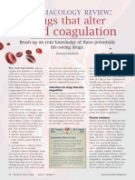 Pharmacology review Drugs that alter blood coagulation.pdf