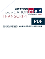 Wrestling With Manhood Transcript