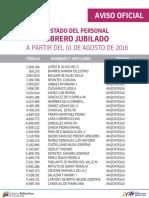 Personal Obrero Jubilado - Agosto 2016 - Notilogía