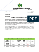 New Fuel Prices August 2016
