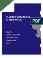 Actinide chemistry1